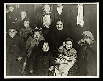 Joys and Sorrows of Ellis Island, by Lewis Hine, 1905, Archives of American Art.