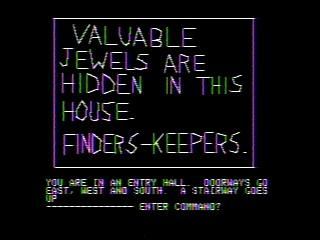 Screenshot of one of the notes included in Mystery House that features Roberta Williams' handwriting