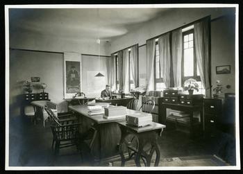 Carl W. Bishop in Peking Office, 1926, SIA Acc. 03-018.