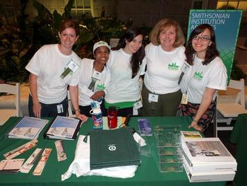 Group image of SIA and Field Book staff at Teachers' Night, from left to right, Leslie Parilla, Sono