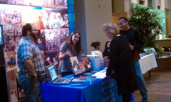 National Museum of the American Indian informational table.