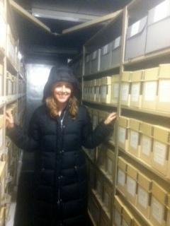 Eden Orelove in the SIA cold vault, 2013