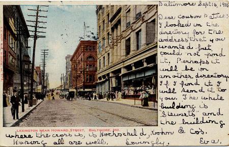 Lexington near Howard Street, Baltimore, Md., by Unidentified photographer, 1905
