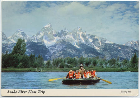 Snake River Float Trip, by EJS, Prior to 1970.
