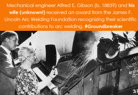 Mechanical engineer Alfred E. Gibson (b. 1883?) and his wife (uknown!)