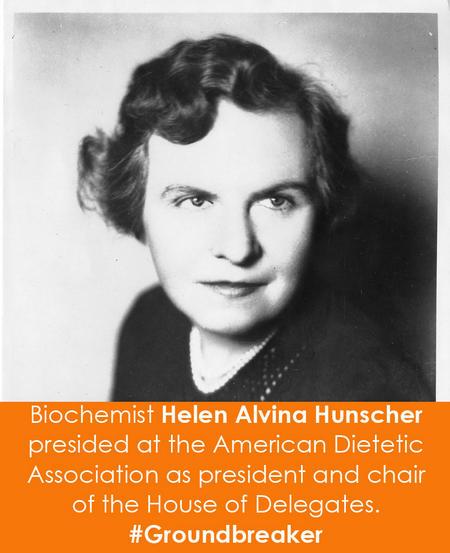 Biochemist Helen Alvina Hunscher