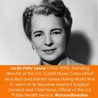Lucile Petry Leone (1902-1999), founding director of the U.S. Cadet Nurse Corps