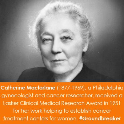 Catherine Macfarlane (1877-1969), a Philadelphia gynecologist