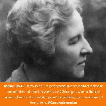 Maud Slye (1879-1954), a pathologist and noted cancer researcher
