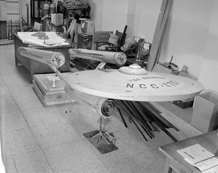 U.S.S. Enterprise model from the Star Trek television series.