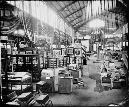 Exhibits at the 1876 Centennial Exhibition in Philadelphia, 1876.