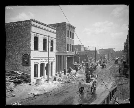 Baltimore, Maryland after the Great Baltimore Fire of 1904.