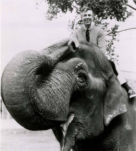 Mr. Rogers and Ambika, July 1982, by Terry Arthur, Record Unit 371, Box 4, Smithsonian Institution A