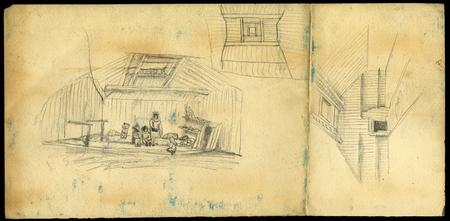 Sketches of Alaskan Natives and Dwellings, c. 1860s