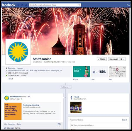 Smithsonian's Facebook page.