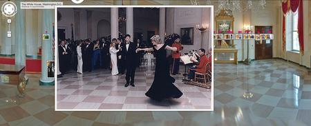Princess Diana and John Travolta Dancing, Nov. 5, 1985. Click for full view.
