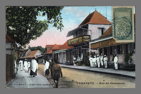 Commercial Street, during the Merina Kingdom, Tamatave (Toamasina)