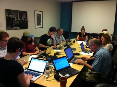Wikipedians Hard at Work, Photo courtesy of Effie Kapsalis.