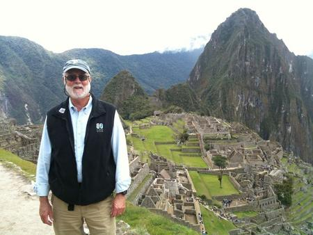 Secretary Clough visiting field site at Machu Picchu, Peru, 2011