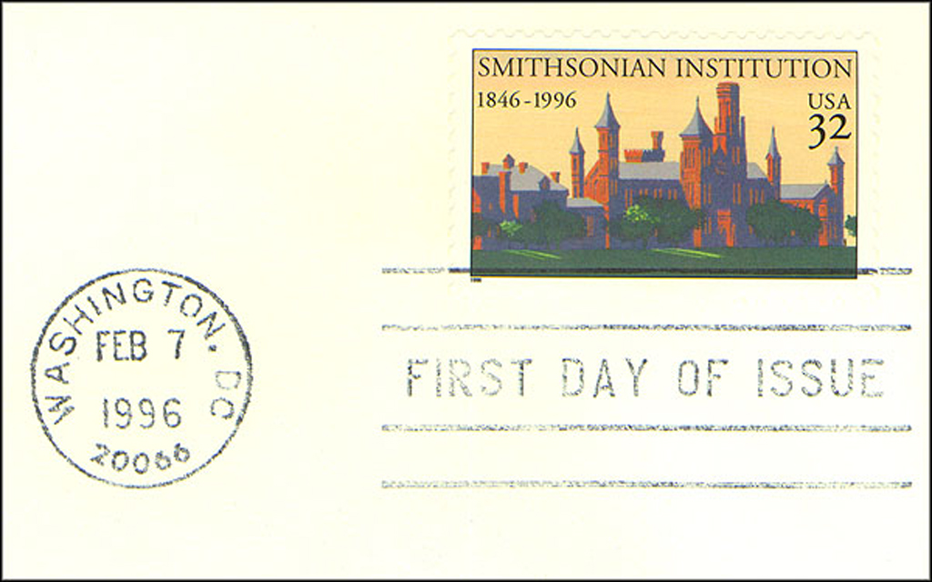 Feb 7 Smithsonian 150th Anniversary Stamp
