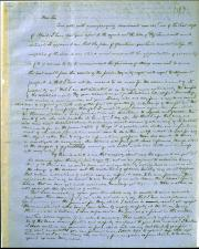 Full page of handwritten text on tan background