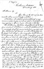 Handwritten text of Henry's letter to B. Blanco