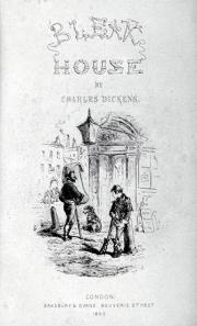 Title page to the book Bleak House by Charles Dickens