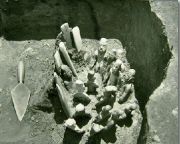 Photo of excavation of jade offering