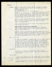 Typed page of Lucile Mann's diary of expedition to Argentina