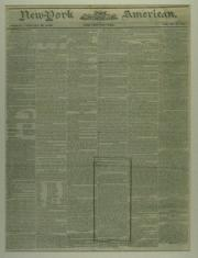 Front page of newspaper, typed text on tan background