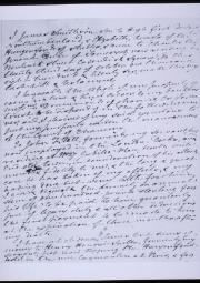 Handwritten text of Smithson's will on light background