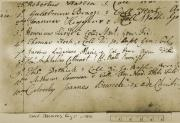 University Subscription Register with handwritten text on a tan background