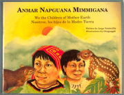 "Front cover of the book ""We are the Children of Mother Earth,"" depicting two children"