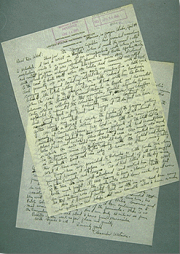 Two sheets of handwritten letter from Wetmore to Abbot