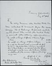 Handwritten letter from  from Levi Woodbury to Nathan Mayer Rothschild, dark ink on light background