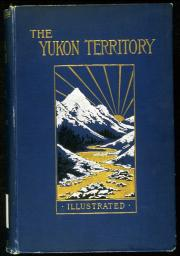 Blue book cover with a picture of mountains, golden water and a golden sun