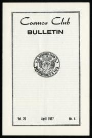Front Cover of the Cosmos Club Bulletin, April 1967, Vol. 20, No. 4.