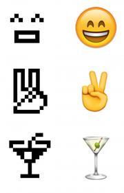 1999 NTT DOCOMO emoji and the 2016 iOS emoji