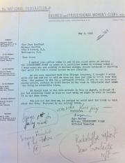 In May 1956, Faye Marley, editor of Independent Woman, asked Jane Stafford to contribute an article