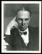 Gag photo of James Stokley wearing pince-nez and bowtie. Record Unit 7091: Science Service, Records,