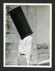 Frank Thone with waste can on top of his head. Record Unit 7091: Science Service, Records, circa 191