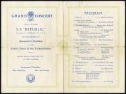 Program for Entertainment onboard S.S. Republic, October 10, 1925. Record Unit 7091: Science Service
