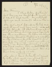 Handwritten letter with black ink.