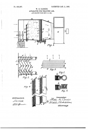 A patent for W.H. Carrier's apparatus for treating air, 1906.