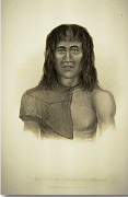 Drawing of a man from Tirra del Fuego