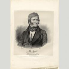 Secretary of State John Forsyth, 1840, by Charles Fenderich, lithograph on paper, National Portrait