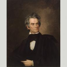 Senator John C. Calhoun, c. 1845, by George Peter Alexander Healy, oil on canvas, National Portrait