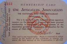 Anteaters Association membership card issued to Marion P. McCrane for the 1962-1963 season, Accessio