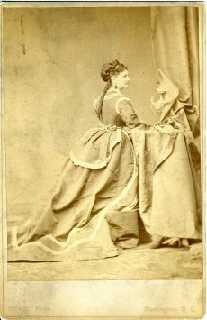 Mary Foote Henderson dressed to the nines as a Washington, D.C. hostess, by the Brady Studio. Record
