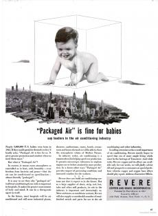 An advertisement for packaged air featured in Life Magazine, January 24, 1944.